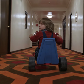 Shining (Kubrick) and the camera movements.