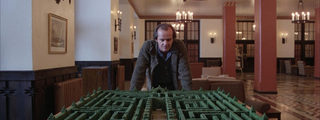"""Jack Nicholson """"over-looking"""" the labyrinth"""